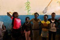 Crianças na escola de Suzana