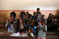 Crianças na escola de Panquenham